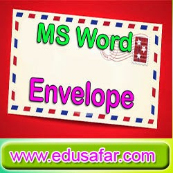 GTU CCC Practical Exam Video 11 MS Word Envelopes