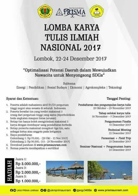 Lomba Karya Tulis Ilmiah Nasional 2017