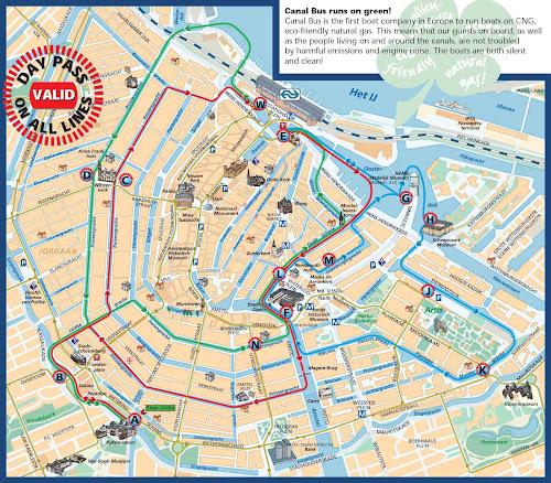 Mapa de Amsterdã