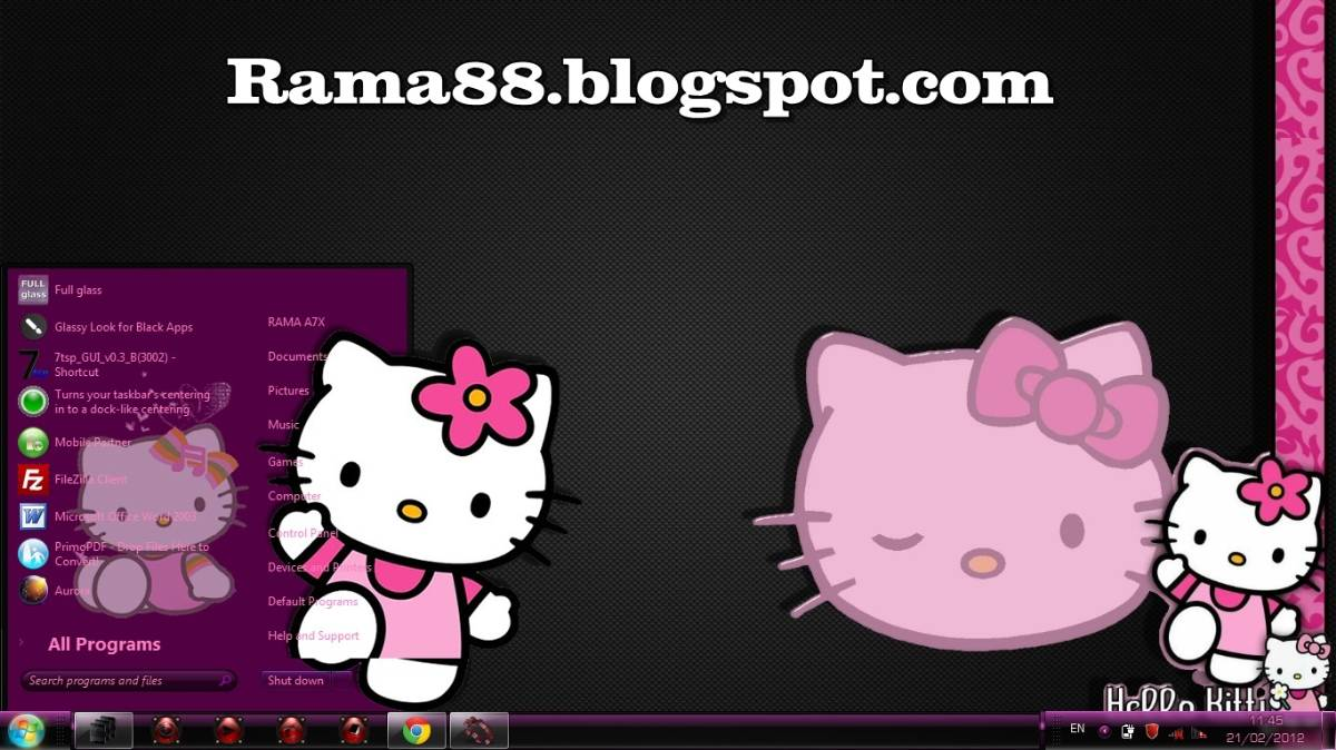 Tema hello kitty untuk windows 7 apexwallpapers com