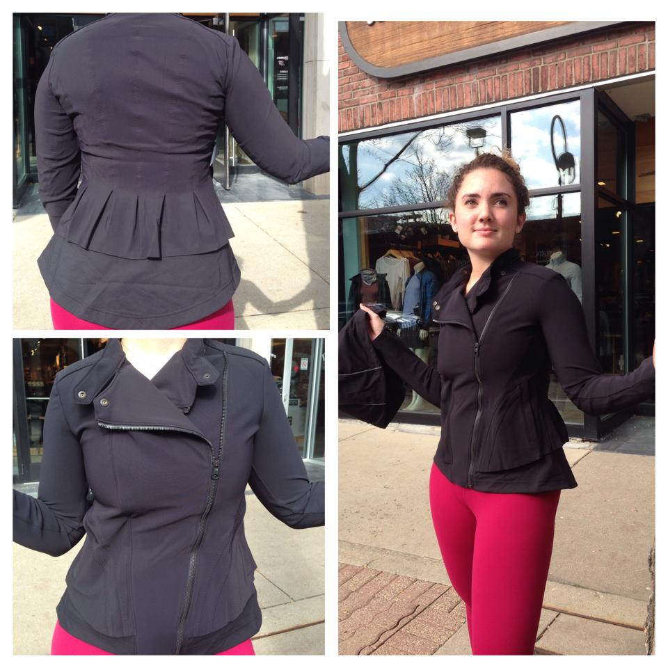 lululemon black-bust-a-move-jacket bumble berry wunder under pant