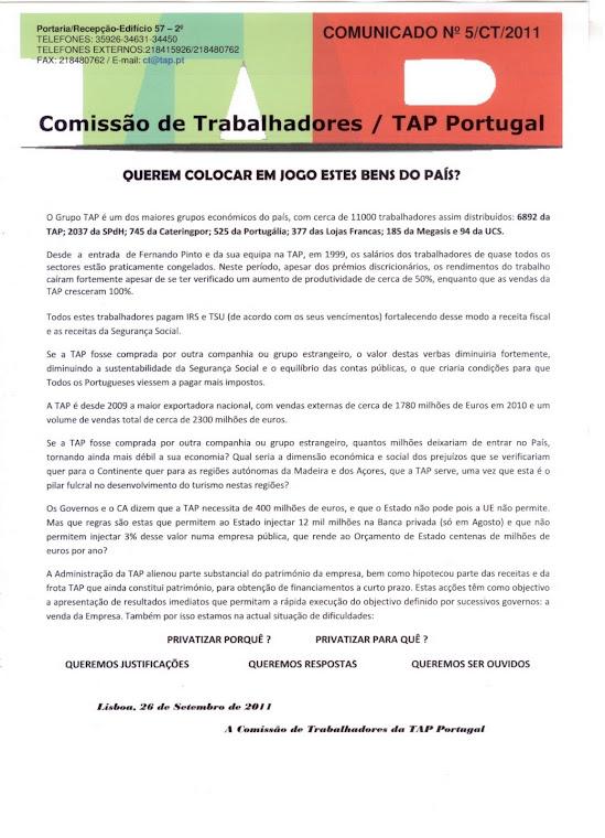 Comunicado 05/2011