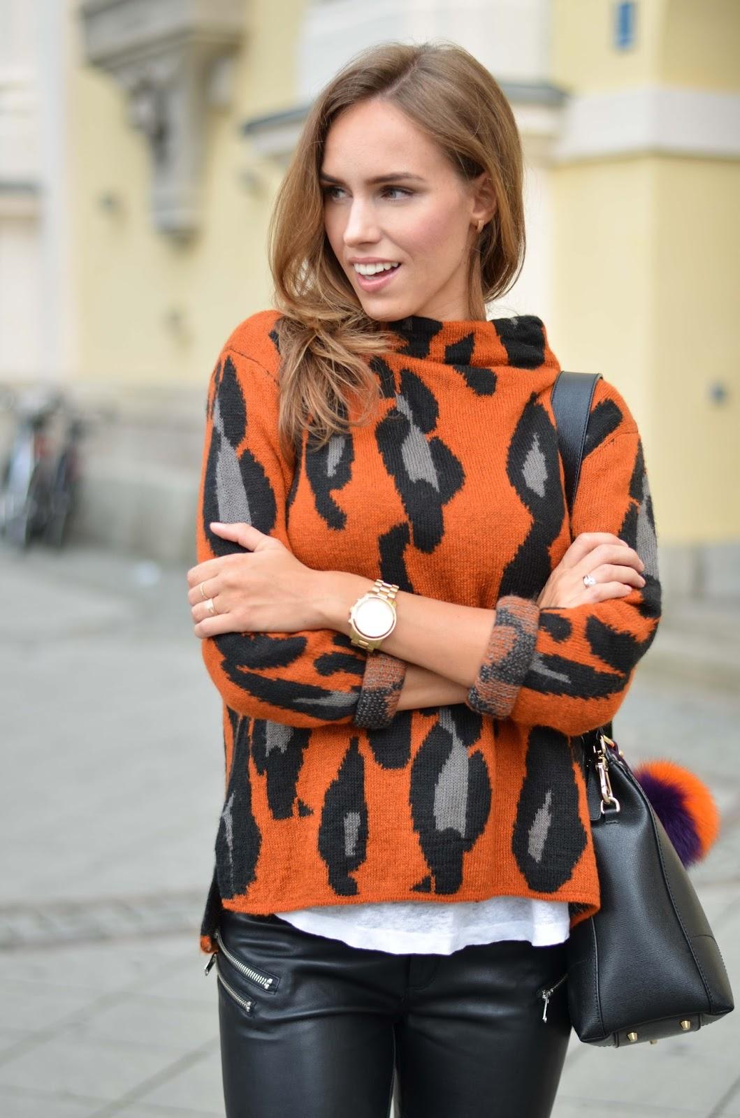 kristjaana mere lindex leopard cardigan fall 2015 munich street style