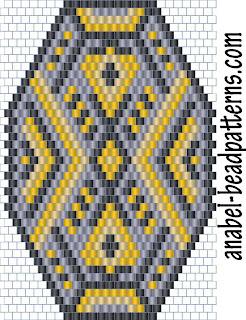 схемы бисероплетение мозаичное плетение кулон браслет free peyote patterns