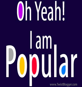Yeah! I am Popular