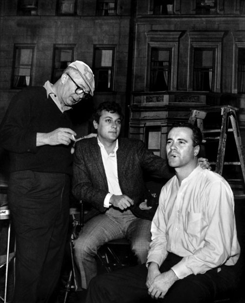 On the set with jack lemmon the scott rollins film and for The apartment cast