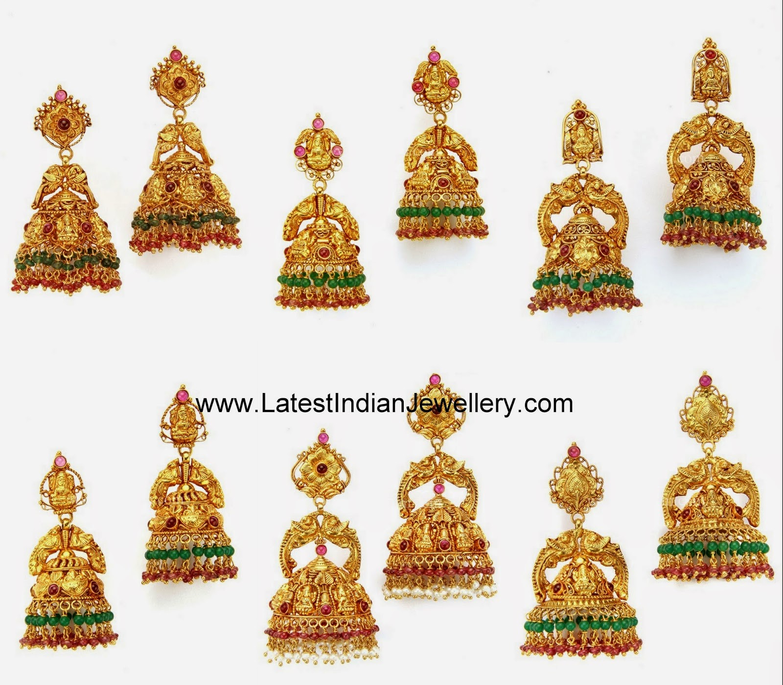 latest gold jhumkas earrings
