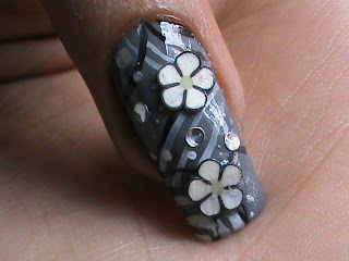 Easy nail designs with FIMO flower nail art- Fimo Canes Collection nail art design Tutorial Video for beginners DIY Ideas