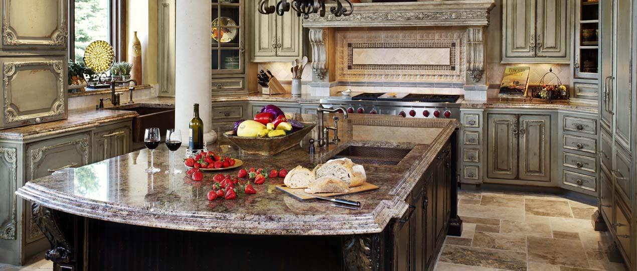 Cocinas cl sicas americanas artesan a y tradici n cocinas con estilo - Cocinas estilo colonial ...