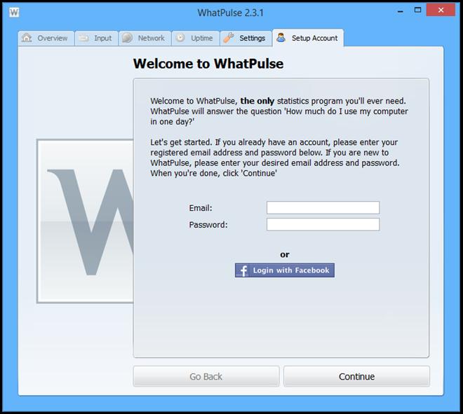 مراقبة استخدام الكمبيوتر وشبكة، الفأرة، لوحة المفاتيح والإحصائيات الحرارة خرائط مع WhatPulse