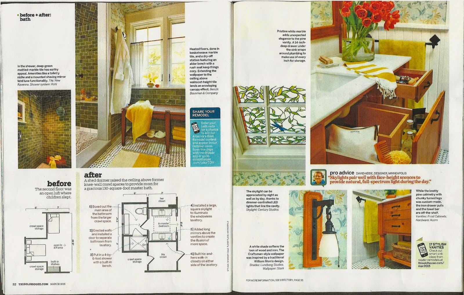 Two Skylights Created In 2012 By Century Studios Are Featured In The March  2015 Issue Of This Old House Magazine As Part Of A Home Renovation.