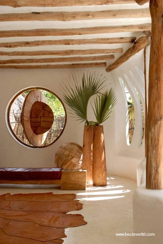 Arquitectura de casas casa org nica cerca del mar en la - Arquitectura rustica moderna ...