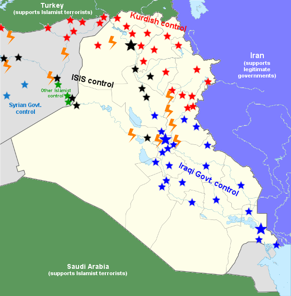 For what we are they will be map of factional control in iraq map of factional control in iraq and parts of syria gumiabroncs Images