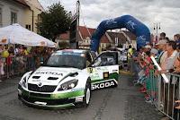 Jan Kopecky si Pavel Dresler - Skoda Fabia S2000 - Raliul Sibiului 2013 - etapa in Campionatul European de Raliuri
