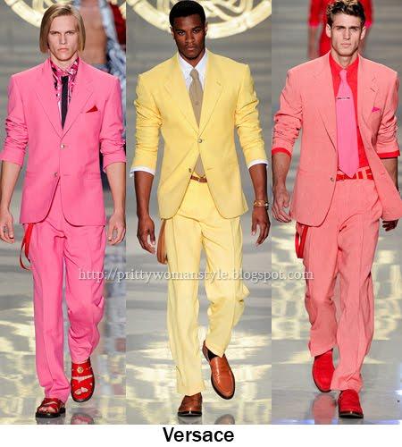 ярки мъжки костюми Versace