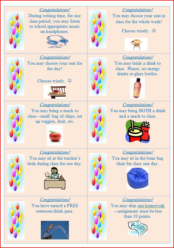 Classroom Reward Ideas For Middle School ~ Middle school adventures class rewards