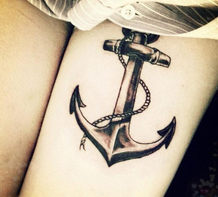 Cuerpo color gris tattoos Tatuaje Ancla