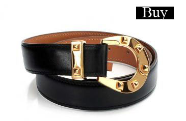 hermes black leather x gold tone h buckle belt size 70