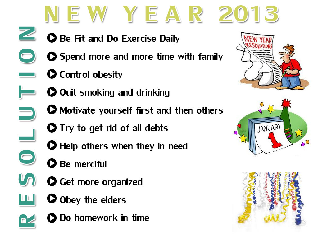 New Year 2013 Resolutions - What to Commit & What to Follow - 2014 ...
