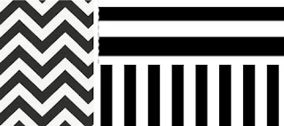 Pola grafis garis warna di dinding rumah