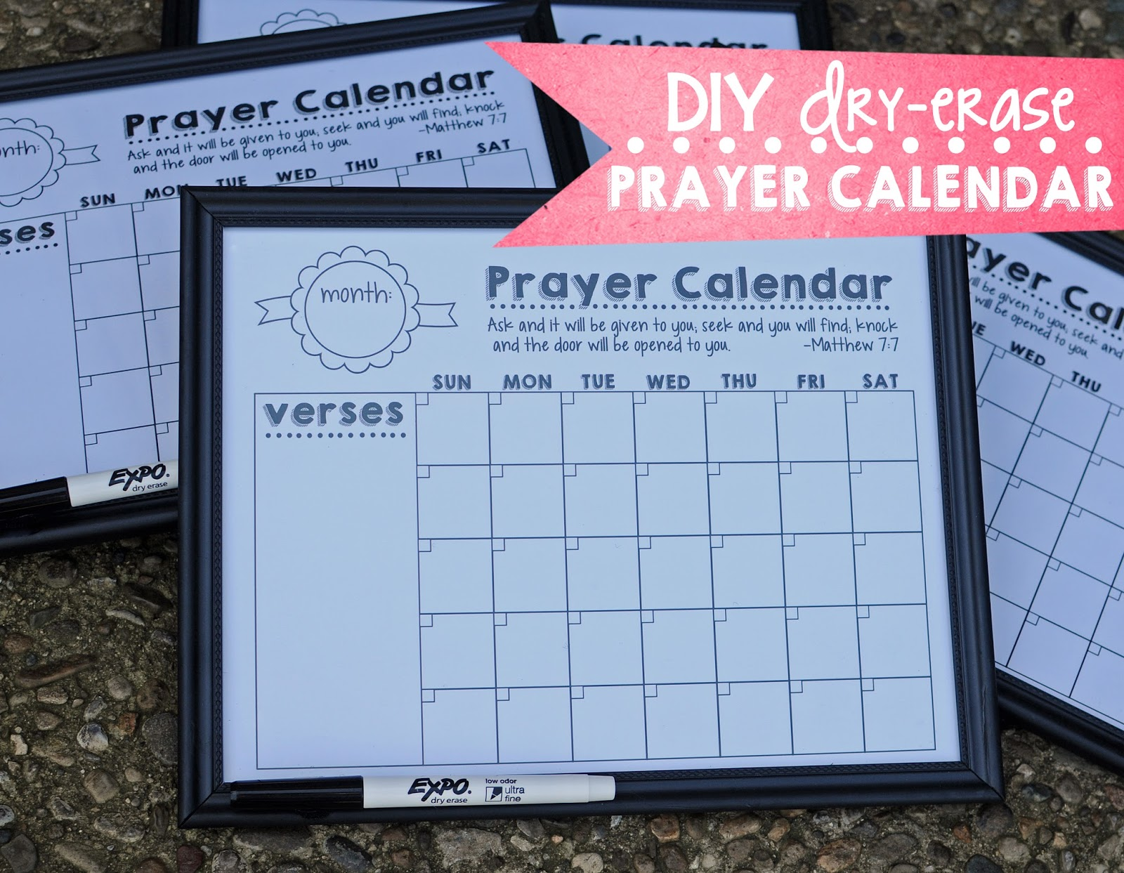 Diy Refrigerator Calendar : M k designs diy dry erase fridge prayer calendar