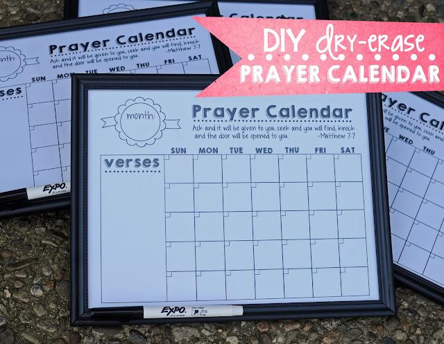 Diy Refrigerator Calendar : M k designs diy dry erase fridge prayer calendar