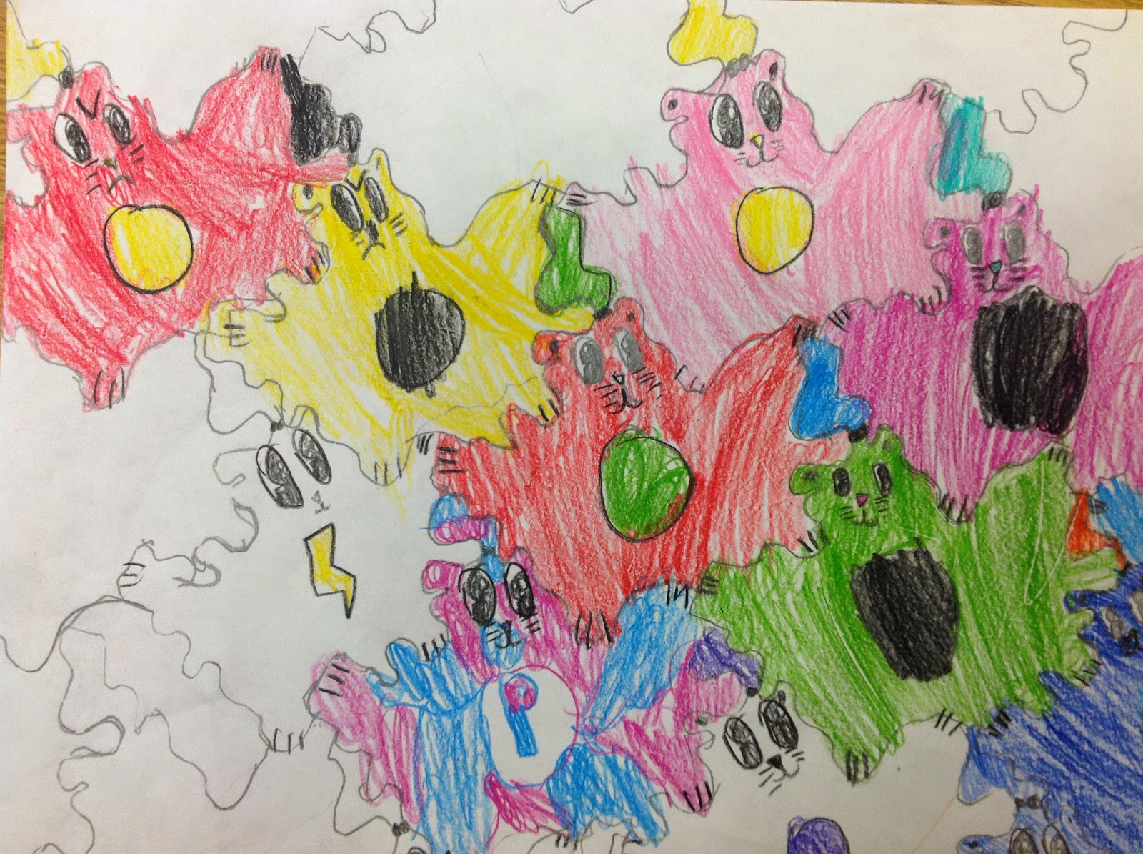 Fifth Grade Tessellation Drawing Art Lesson
