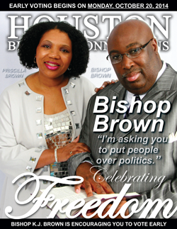 BISHOP K.J. BROWN IS ENCOURAGING YOU TO VOTE IN THE MIDTERMS