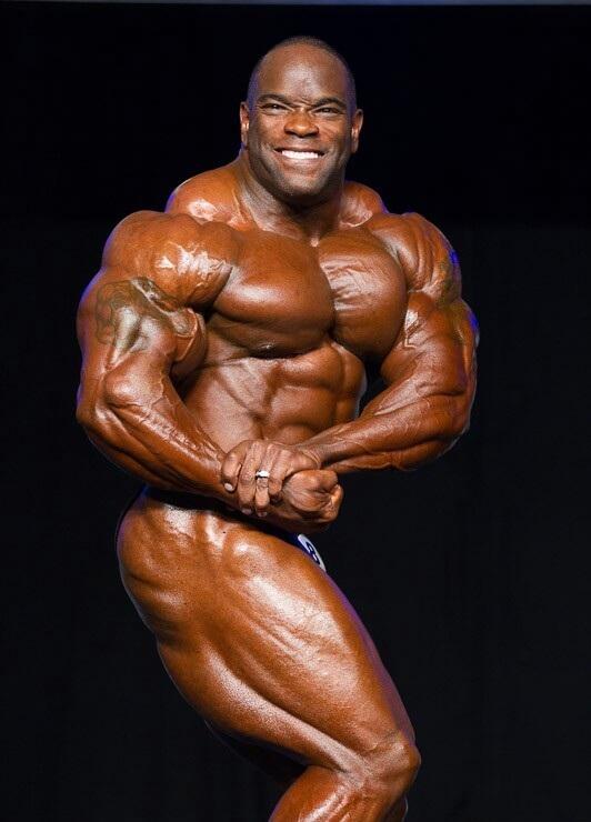 Body Shape: Johnnie Otis Jackson Biceps Pose