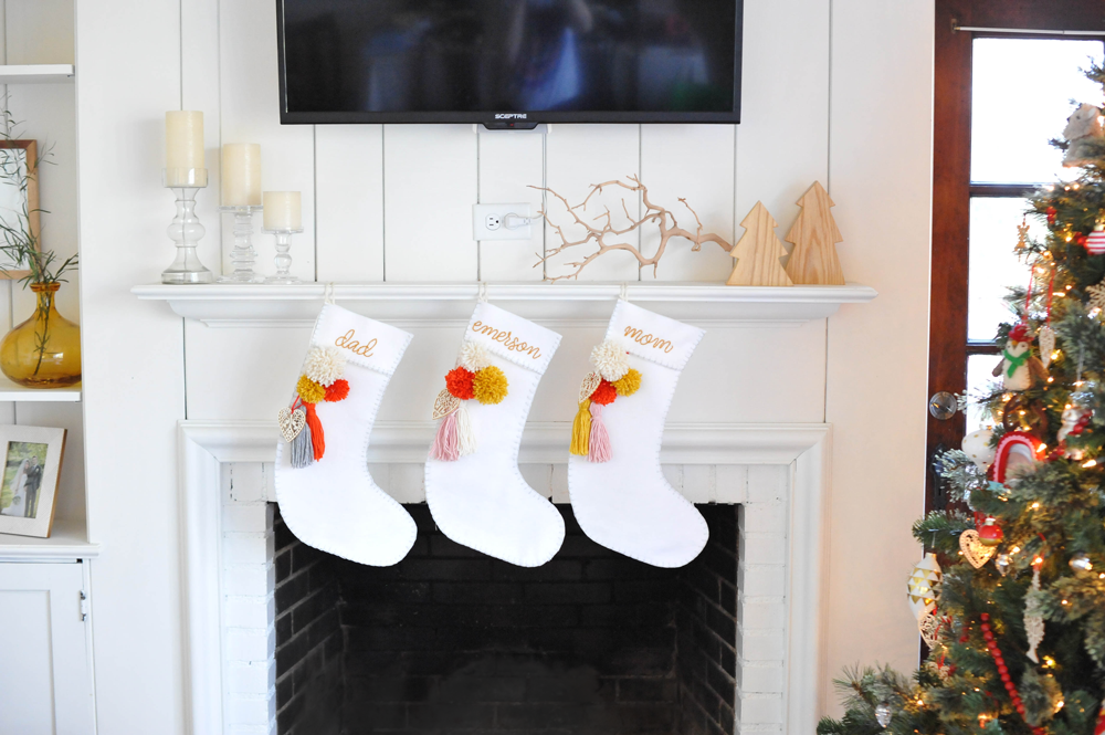 DIY Holiday Christmas Stocking Tassel & Pom-poms