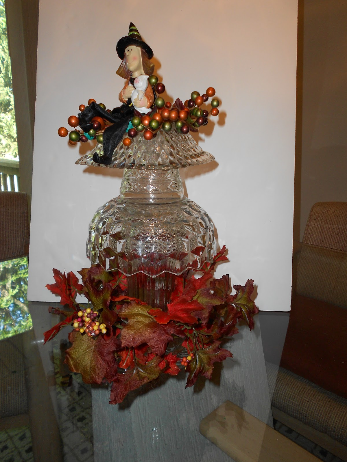 Hunkey dorey land glass centerpieces quote