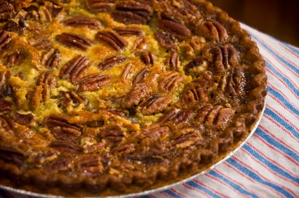 Pecan pie with sweet potato