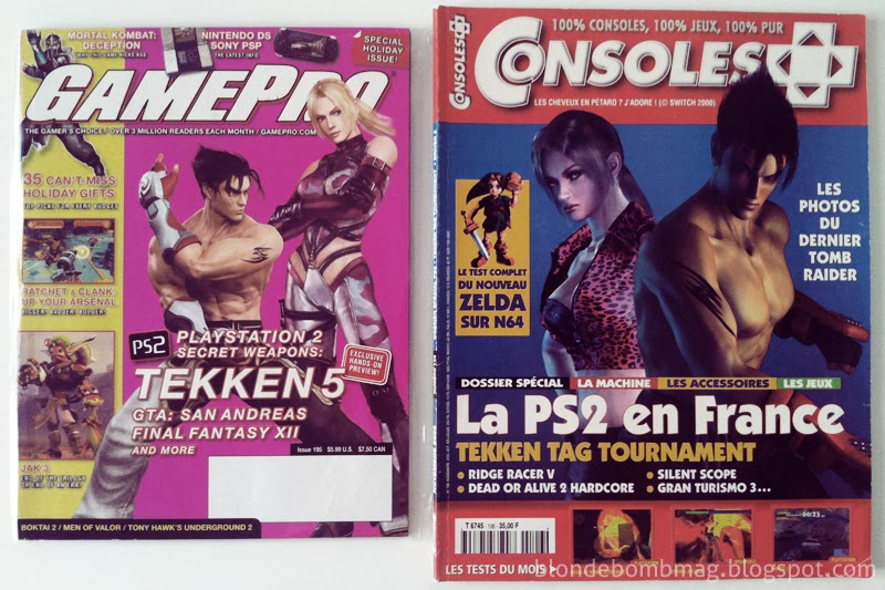 Tekken magazine covers Jin & Nina