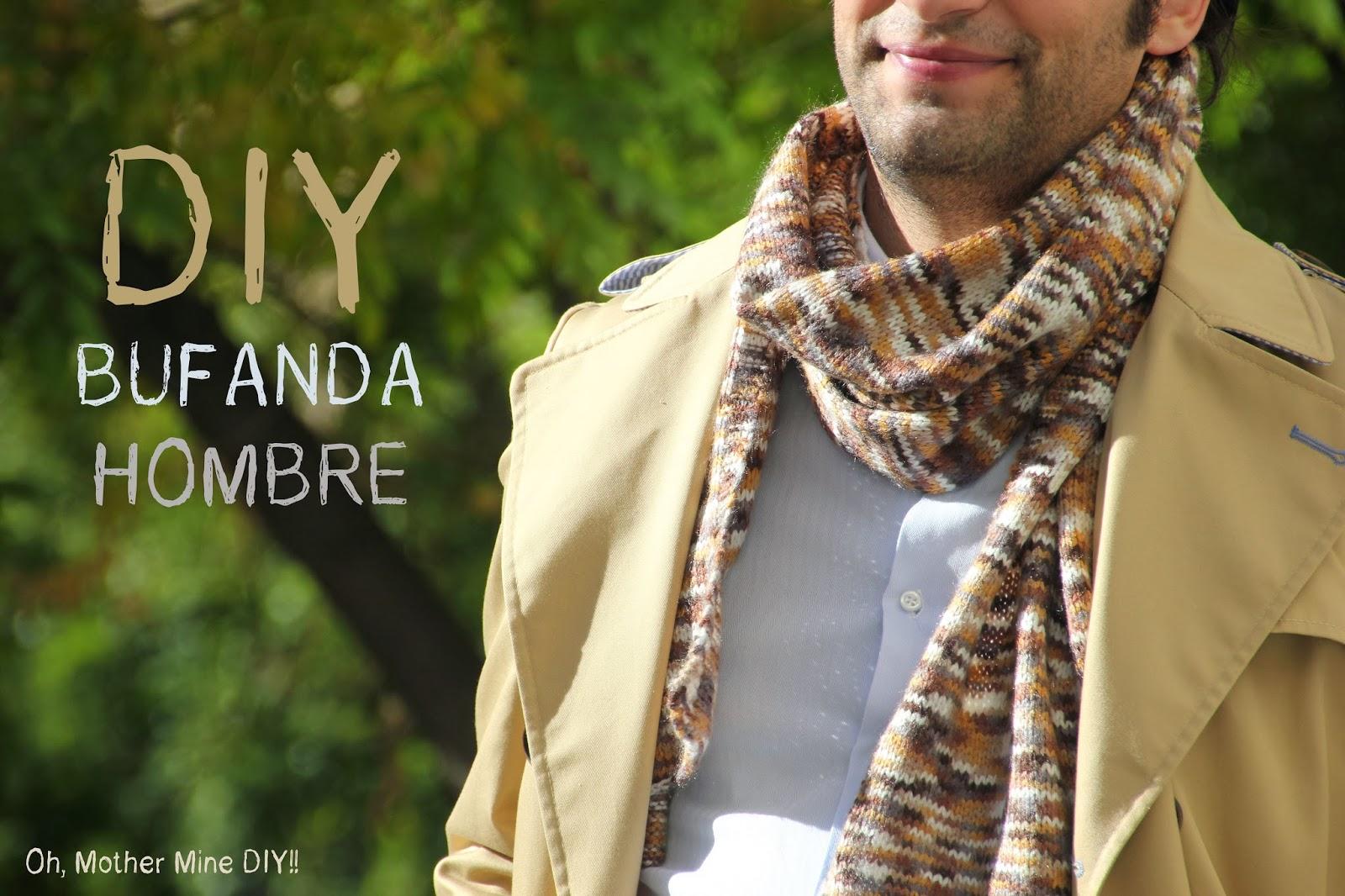 DIY Cómo tejer una bufanda de hombre en varios colores | | Oh ...