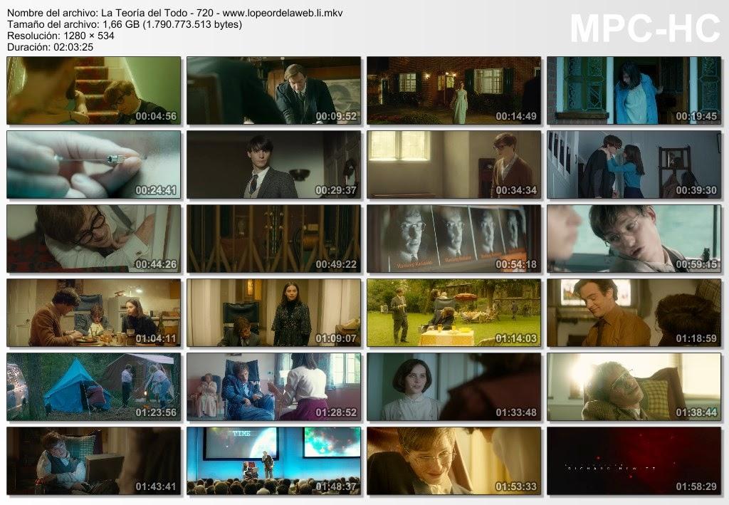 La teoría del todo (2014) BRrip 720p Latino-Ingles