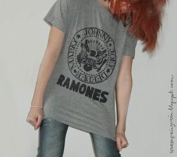Ramones Tshirt selbstgemacht