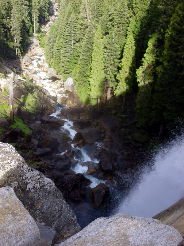Looking over the brink of Vernal Falls