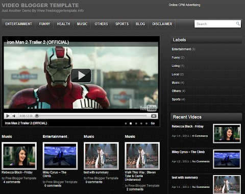 Video Blogger Theme
