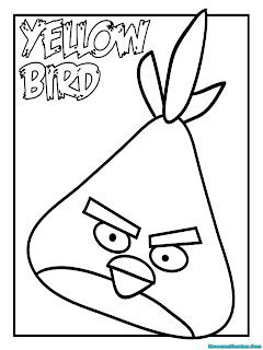 Mewarnai Gambar Angry Birds Kuning