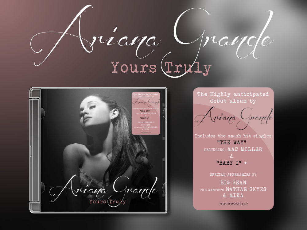grande truly Ariana cover yours album