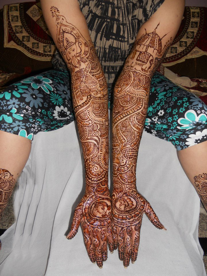 Arm Mehndi Design : Mehndi bridal latest designs