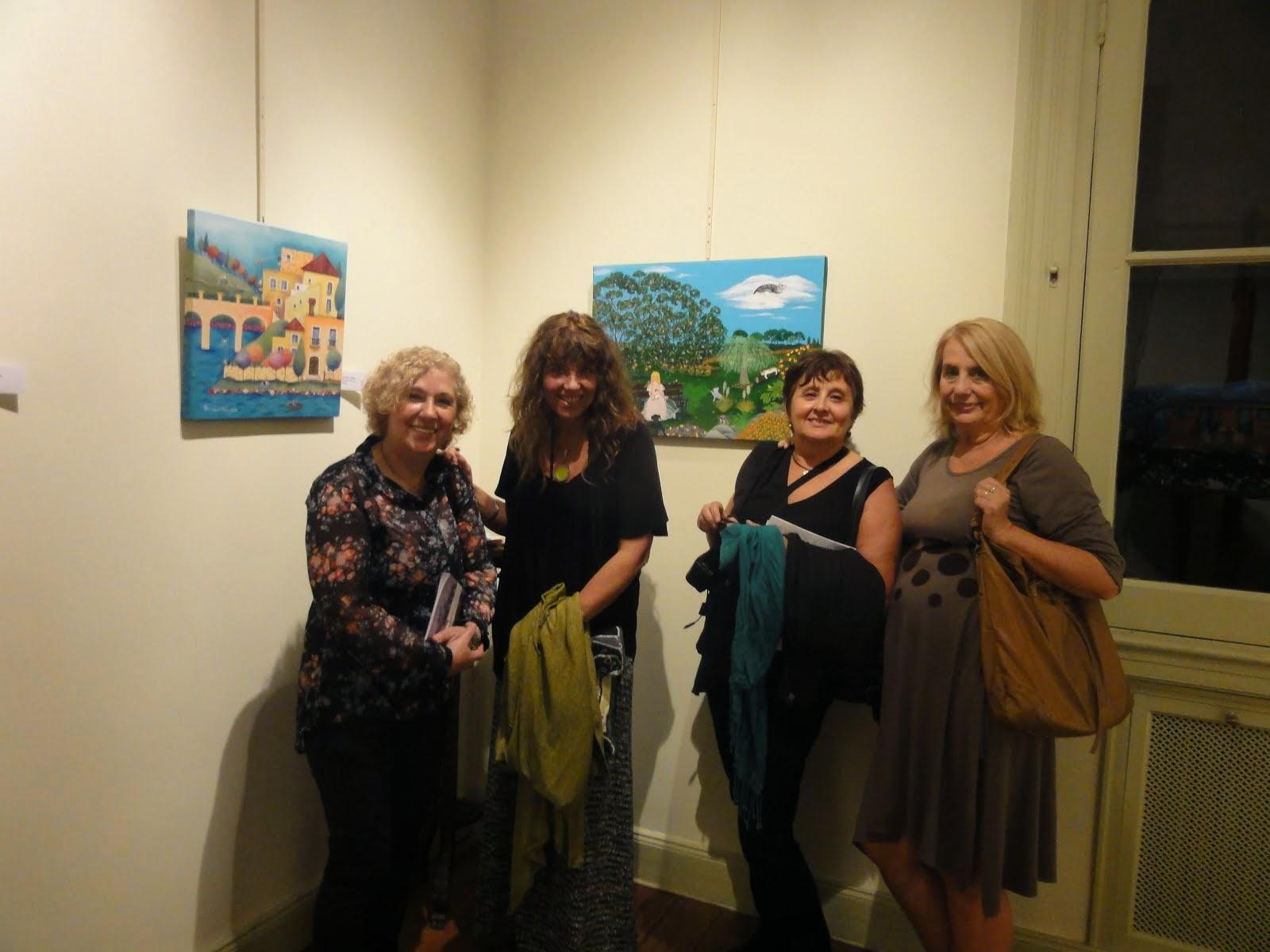 Junto a mis amigas pintoras: Pato Pousa, Andrea Alonso Amorin y Graciela Henry