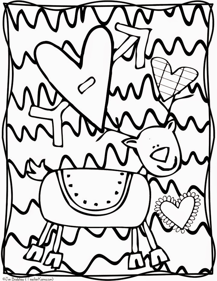 FREE:  Christmas doodle pages to color.  TeacherKarma.com