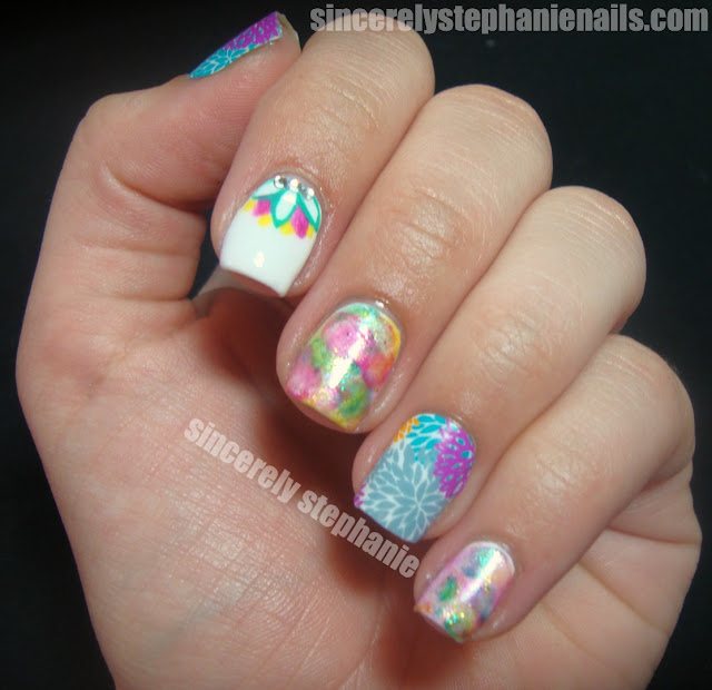 jamberry nail shields puff flower color club take the wing watercolour