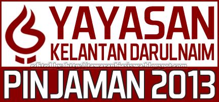 Permohonan Tawaran Pinjaman Pendidikan Yayasan Kelantan Darulnaim 2013 | Study Loan