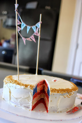 American Flag Birthday Cake
