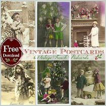 Vintage French Postcard Printables FREE
