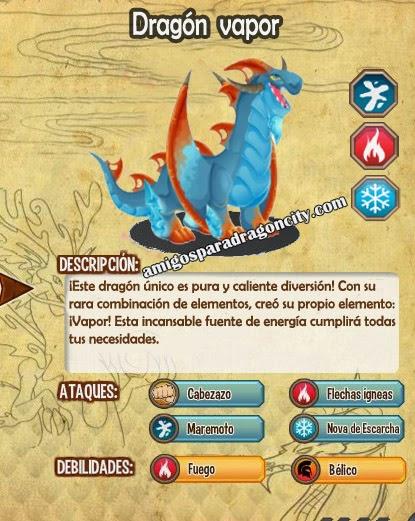 imagen de las caracteristicas del dragon vapor