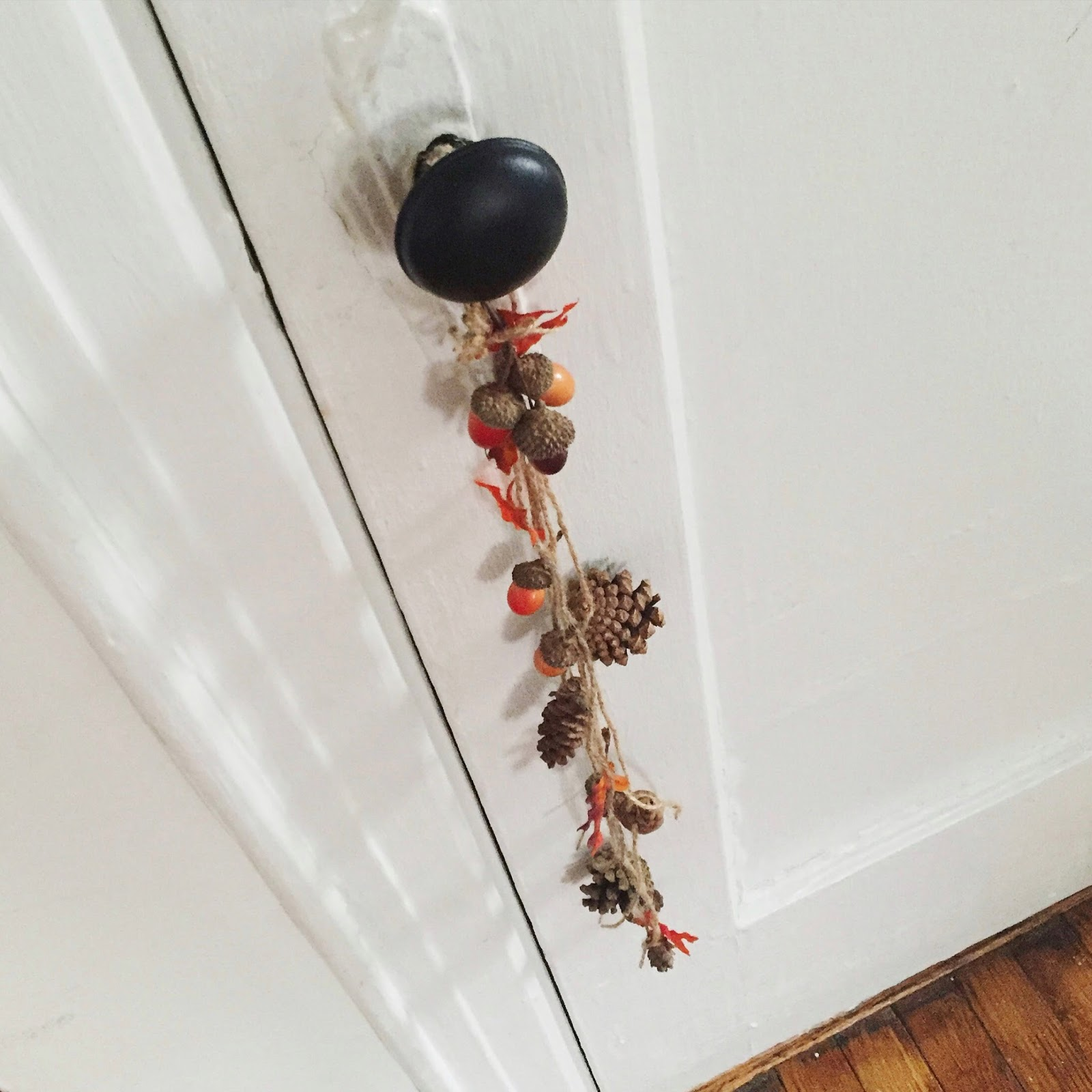 We\u0027re bringing the outside in again with all things fall! & Crafty Lumberjacks: Festive little door knob charm!