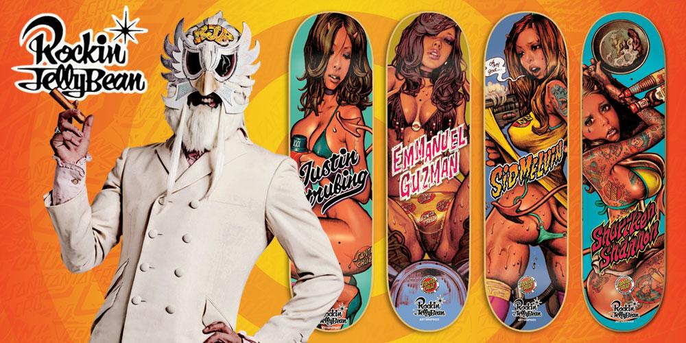 Rockin 'Jelly Bean X Santa Cruz Skate Decks